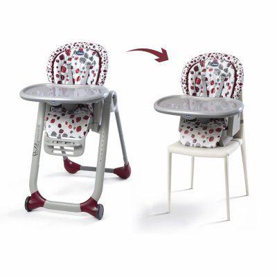 Chaise haute bébé polly progres5 cherry Chicco