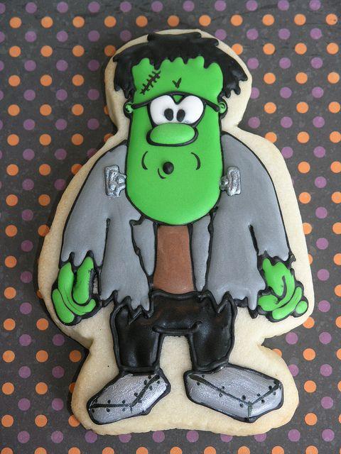 Frankenstein cookie #Halloween