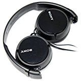 SONY Over Ear Best Stereo Extra Bass Portable Headphones Headset for Apple iPhone iPod / Samsung Galaxy / mp3 Player / 3.5mm Jack Plug Cell Phone (Black)