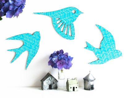 SuperVery Bird, in a an ocan blue hand-drawn chevron pattern