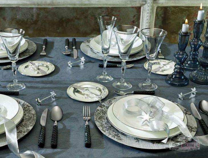сервировка стола на дипломатический обед