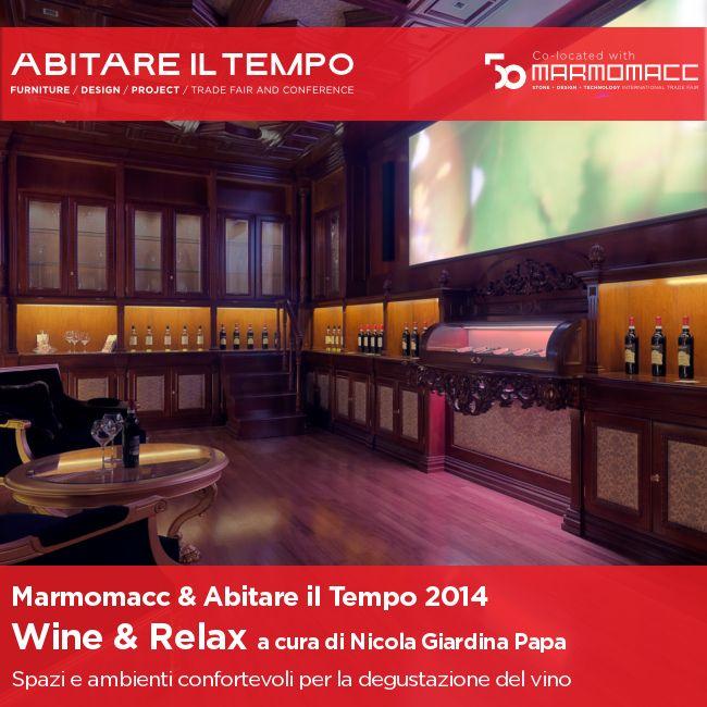 #Marmomacc e #AbitareilTempo: back to the 2014 Edition! #Wine and #Relax Concept Room: ambienti innovativi, confortevoli e rilassanti per la #degustazione del #vino. Un progetto a cura di Nicola Giardina Papa con la partecipazione di Arredoluce, Concordia Marmi, Mainardi Sistemi, Menotti Specchia, Metal.Riv , Santo Passaia, Inda e Samo.  Scopri il progetto: http://goo.gl/I8Gaak!
