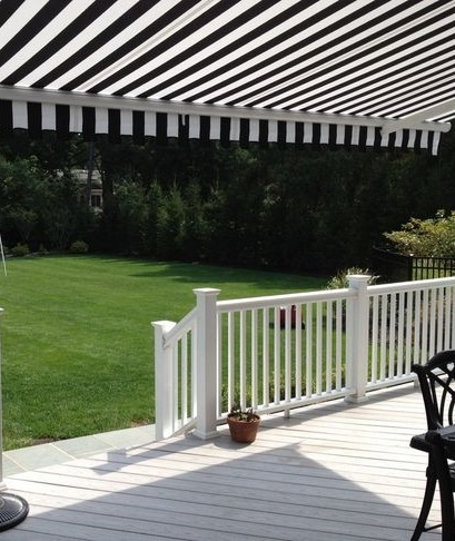 Black & White backyard awning http://www.awningresources.com/Default.aspx