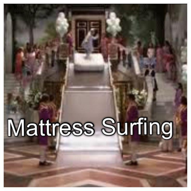 Bucket list - Mattress Surfing like a Queen #PrincessDiaries