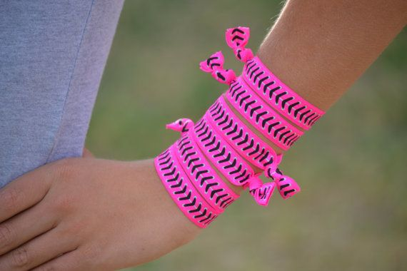 Softball Hair Ties 6 pack Softball Hair Accessory by SportyChicas