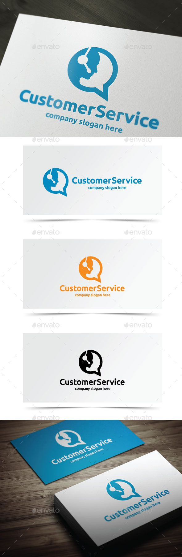 Customer Service Logo Template PSD, Vector EPS, AI. Download here: http://graphicriver.net/item/customer-service/10741273?ref=ksioks