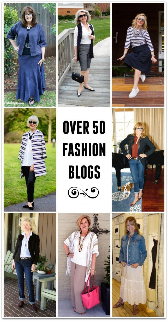 Over 50 Fashion Blogs: These women prove that style doesn't have to end at 50!