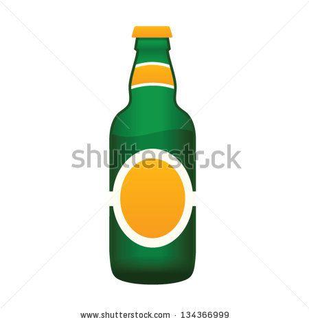 Beer bottle - stock vector