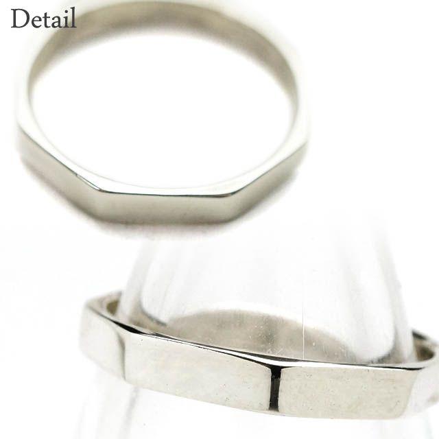 シルバー925メンズレディースリング八角形のシンプルな指輪【楽ギフ_包装選択】 #シルバーリング #指輪 #シンプル #シルバー925