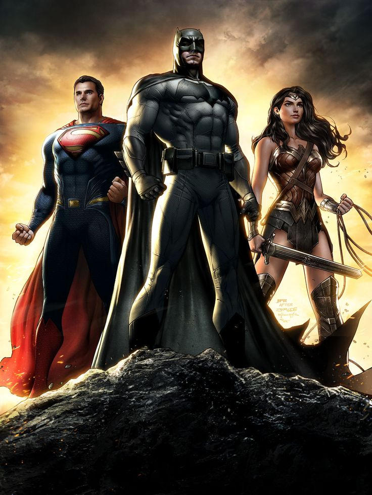 "Trinity - The ""Batman v Superman: Dawn of Justice"" version."