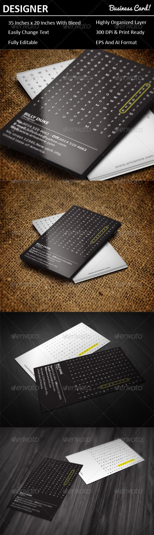 Best Business Card Designs Images On Pinterest Business Card - 2 x 35 business card template