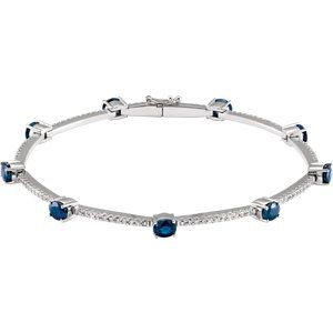 Sapphire & Diamond Line Bracelet to Celebrate September Birthdays! Click through for product details OR to locate a jeweler near you.