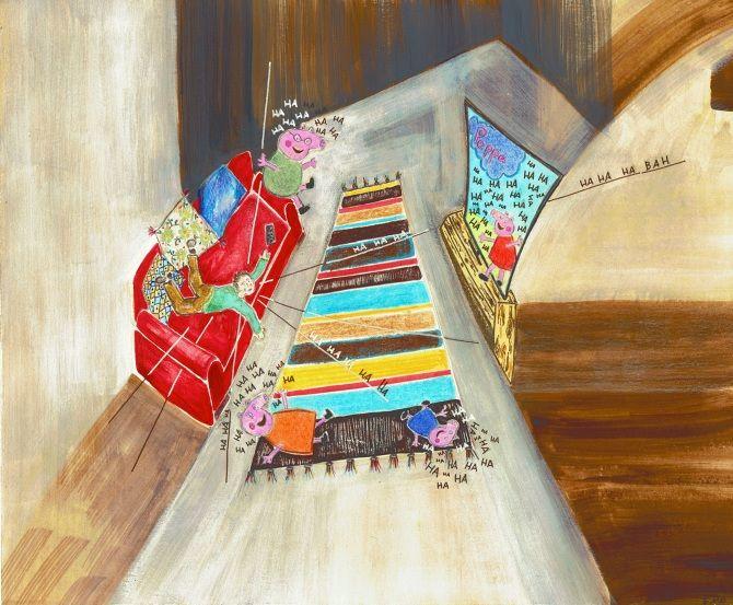 Il divano rosso - Simona Riesen