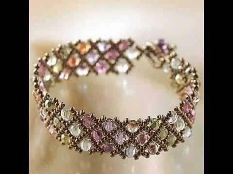 Create Your Own DIY Miyuki Glass Bead Bracelet Kit - Woven Net Pattern Best Price - YouTube