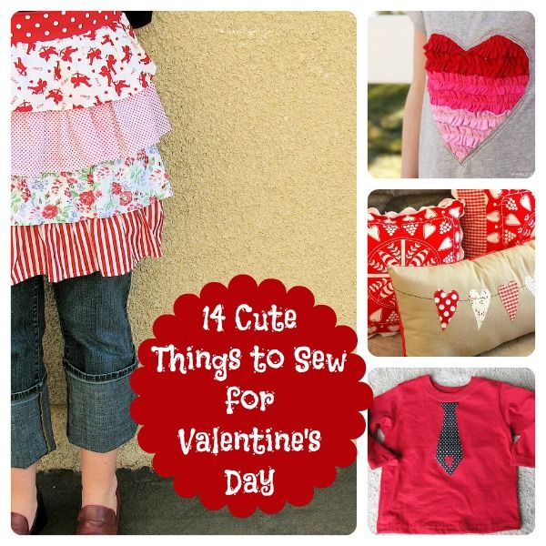 14 Valentine's Day Sewing Crafts -- full list of tutorials, projects ranging from easy to advanced. All super cute!