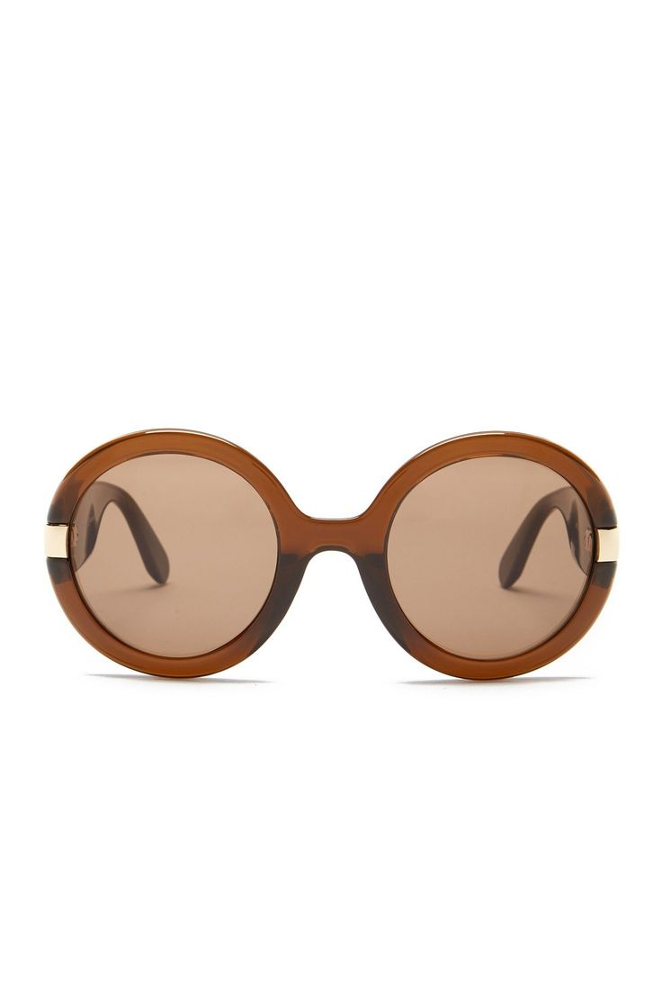 Women's Oversized Round Acetate Frame Sunglasses