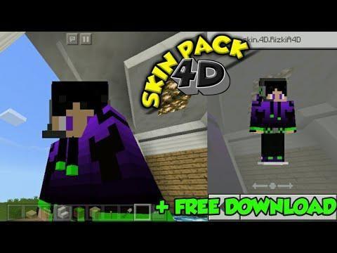 download skin mcpe 4d keren