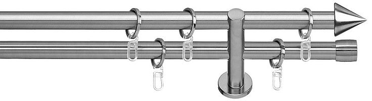 Gardinenstange, Indeko, »Brig«, 2-läufig, im Fixmaß, ø 20 mm