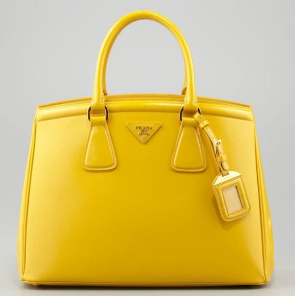 Prada Yellow Wallet