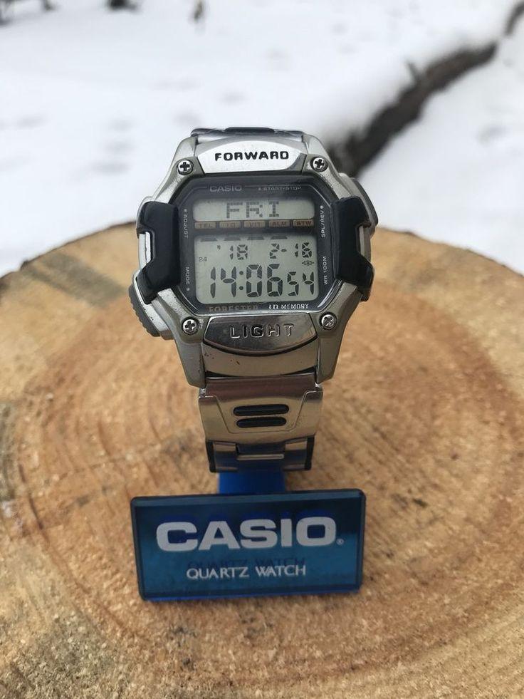 Casio FT-1000H 2075 Forester Wrist Watch Wr100 Id Tel Memory Vintage  | eBay