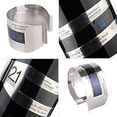 Rozsdamentes acélból készült bor karkötő hőmérő 2016 – €3.99