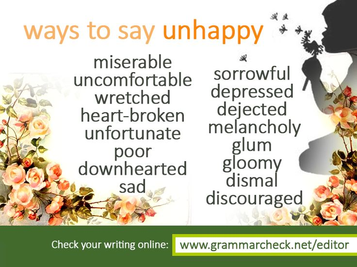 Ways to say: Unhappy