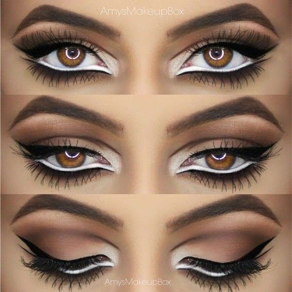 """@amysmakeupbox on Instagram: """"Intricate eyeshadow and liner ❤️ details... ❤ liked on Polyvore featuring beauty products, makeup ve eye makeup"""