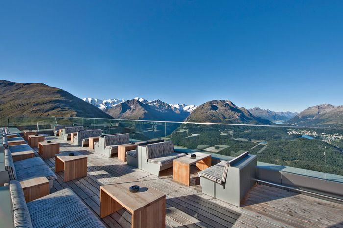 Romantik Hotel Muottas Muragl Terrazza panoramica