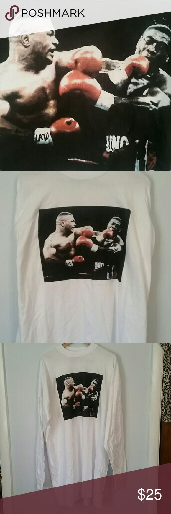 Mike Tyson long sleeve 4xl Retro vintage Mike Tyson image taken from fight. SAAD  Shirts Tees - Short Sleeve