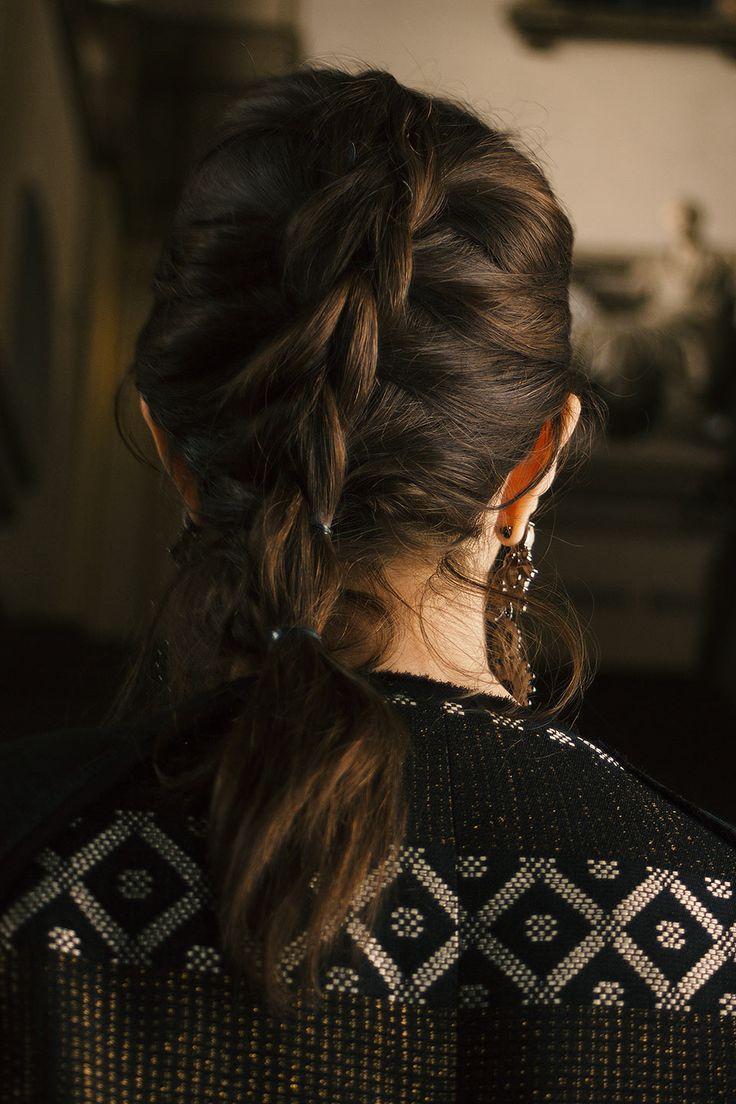 Manu Luize - penteado com tranças MFW