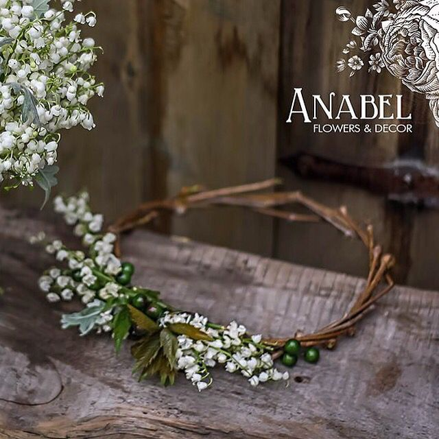 Ободок для невесты) лесная свадьба