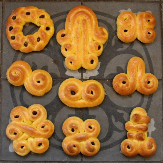 lussekatter family recipe // Santa Lucia bread // Svenske luciabrød // saffron buns