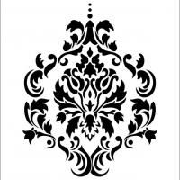 42 best Pattens images on Pinterest | Wall stenciling, Damask ...