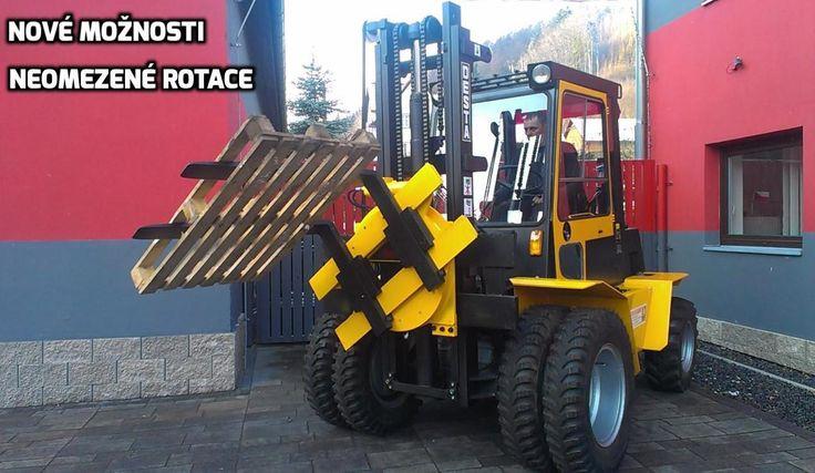 Forklift - new possibilities, rotate without limitaion Nové možnosti, neomezené rotace. Otočné zařízení pro vysokozdvižné vozíky http://rosservis-vysokozdvizne-voziky.cz/pridavna-zarizeni/otocne-zarizeni-pro-vzv/