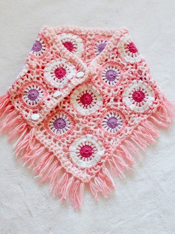 crochet 2WAY scarf poncho