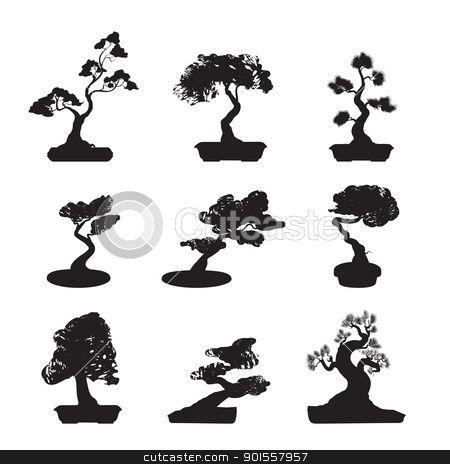 901557957 bonsai trees silhouettes 450 464 bonsy pinterest trees bonsai trees. Black Bedroom Furniture Sets. Home Design Ideas
