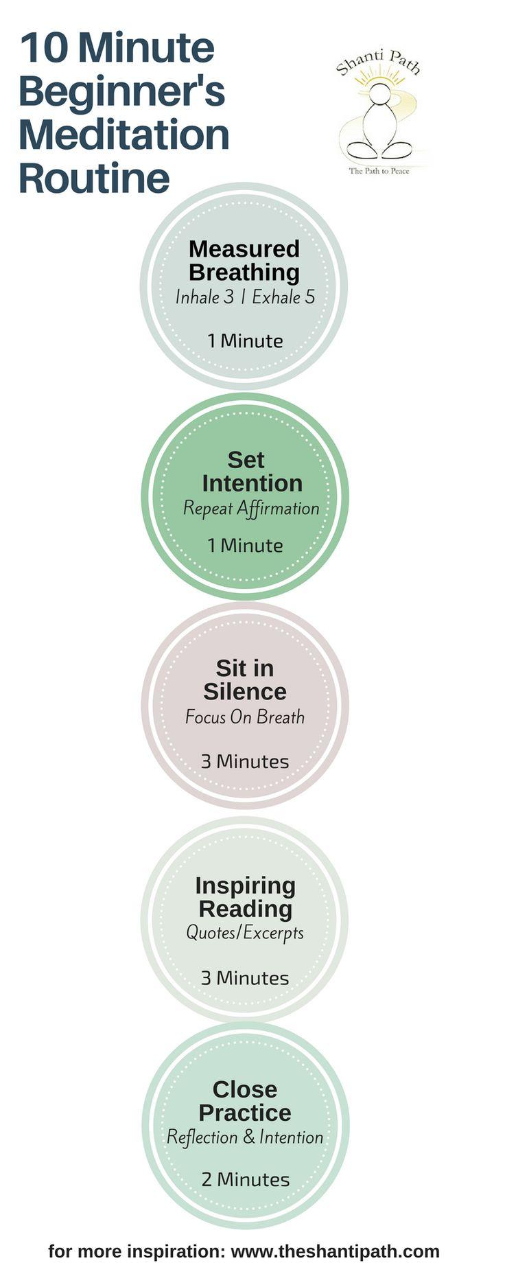 10 Minute Beginner's Meditation Routine | theshantipath.com