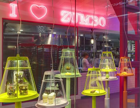 neon signage at zumbo by Adam Signs