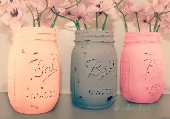You can paint these the bright color to atch your bridesmaids dresses