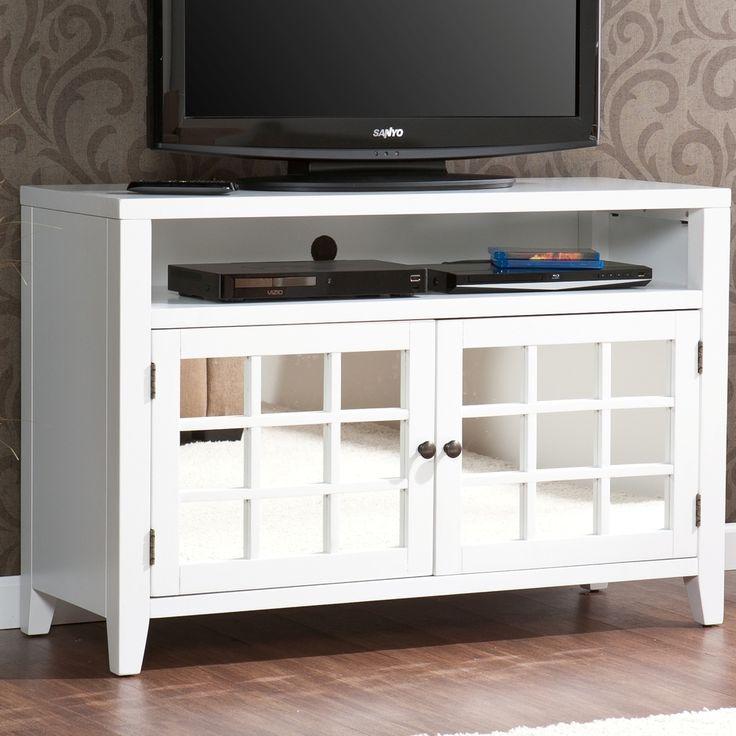 Upton Home Chapman White TV/ Media Stand | Overstock™ Shopping - Great Deals on Upton Home Media/Bookshelves
