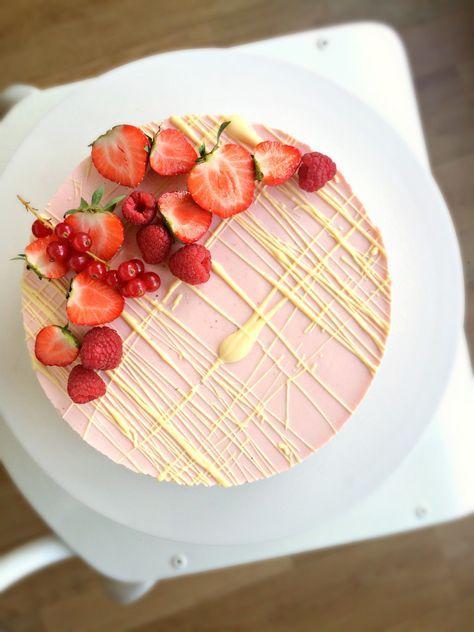 Aardbeien cheesecake met witte chocolade