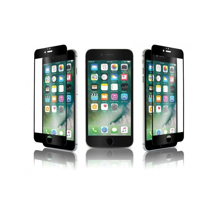 Qdos Verre Trempe Optiguard Glass Bord A Bord Noir Apple Iphone 7 – Taille : Tai…