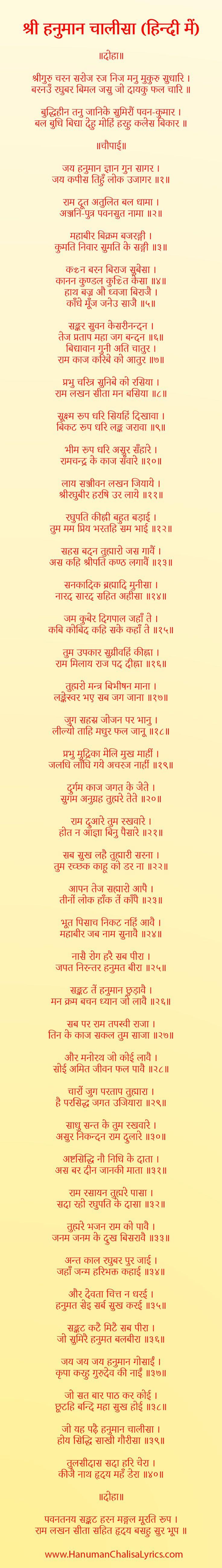 hanuman chalisa in hindi images