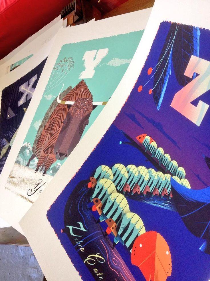 Artworks by Graham Carter #Illustration #printmaking | www.carterworks.co.uk