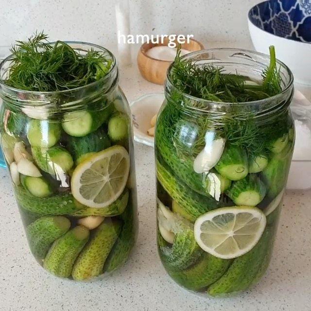 Hanaa Cook On Instagram لعشاق مخلل الخيار Hamurger Hamurger Hamurger المقادير 1 كيلو خيار صغير 2 كوب صغي Christmas Sweets Cucumber Pickles
