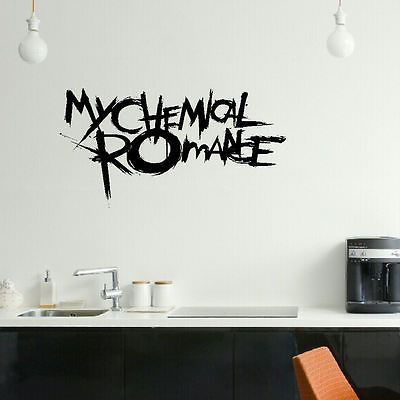 large my chemical romance emo bedroom wall mural art sticker graphic matt vinyl. Interior Design Ideas. Home Design Ideas