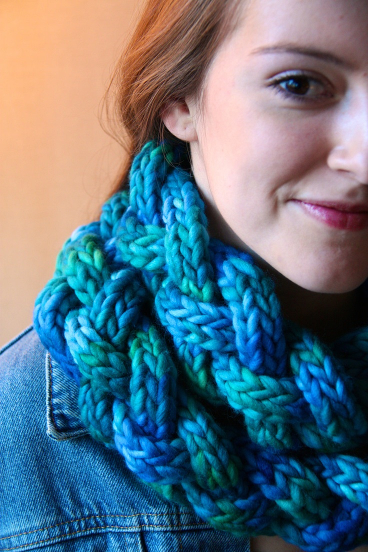 Convolution pattern for braided icord cowl by ...