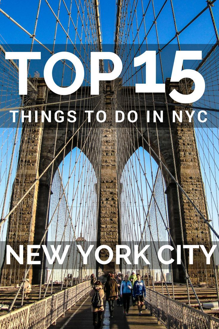 Top 15 Things to do in NYC. New York City is one of the most popular cities to visit in the World. With our list of the things to do in New York you will experience the best of NYC: Central Park, Brooklyn, Manhattan, Empire State Building, Fifth Avenue, Museum, Times Square, Broadway,Grand Central Station, One World Trade Center, Statue of Liberty, NYC helicopter tours. Top places to visit in New York.