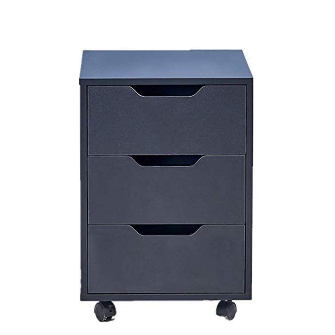 Ansley Hosho Black 3 Drawer Filing Cabinet Wooden Under Desk Desk Side Mobile Pedestal With Casters For Ho Filing Cabinet Drawer Filing Cabinet Wooden Cabinets