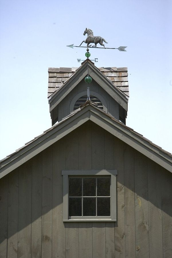 Horse Weather Vane on the Barn